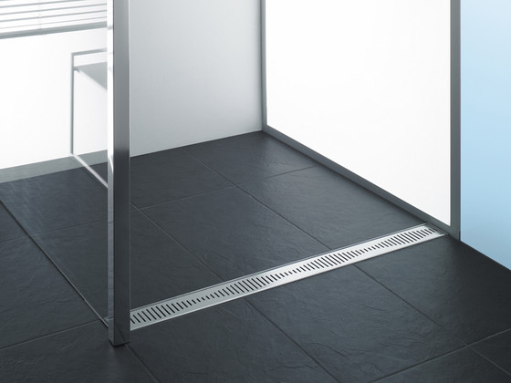aco showerdrain c line wave linear drains from aco. Black Bedroom Furniture Sets. Home Design Ideas