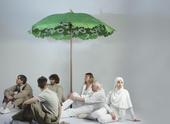Shadylace XL parasol von Droog