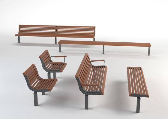 diva | Park bench with backrest by mmcité