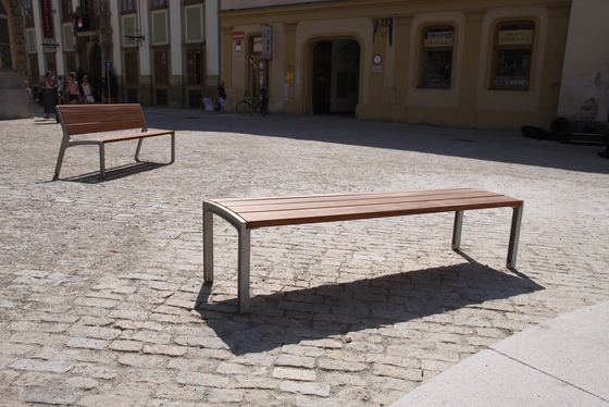 miela | Park bench with backrest by mmcité