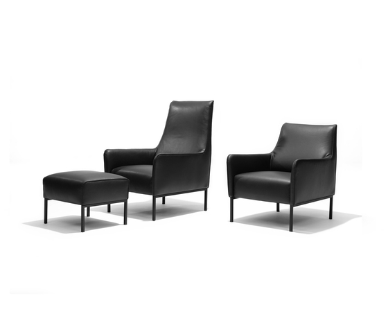 Romeo and Giulia armchair/footstool* by Linteloo