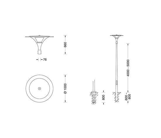 Pole-top luminaire 8079/7086/... de BEGA