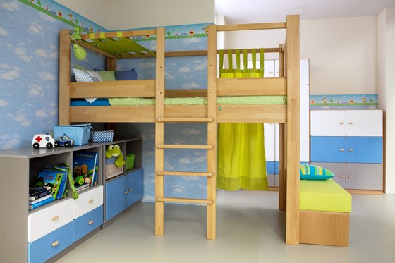 Youth Loft Bed DBB-100B di De Breuyn