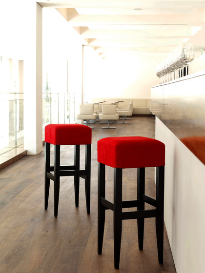 Barista stool upholstered by TON