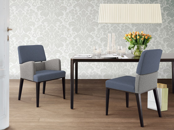 grace softchair with armrests by Wiesner-Hager