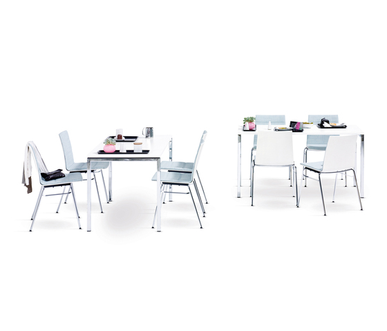 n.f.t. folding table, four-leg base by Wiesner-Hager