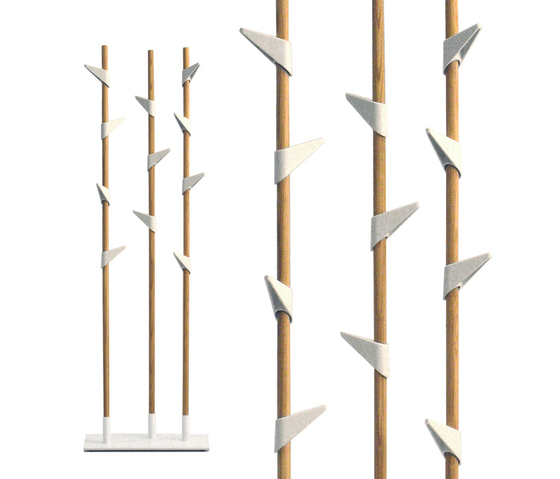 Bamboo Wall 5 wall coat rack by Cascando
