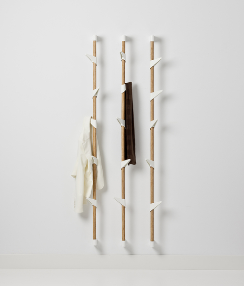 Bamboo Wall 3 wall coat rack by Cascando