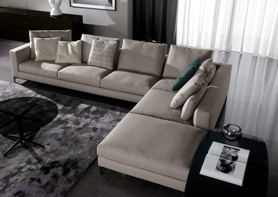andersen by minotti sofa r cami re chaise longue. Black Bedroom Furniture Sets. Home Design Ideas