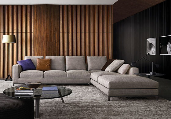 Andersen daybed chaise longues from minotti architonic for Andersen leather chaise sectional