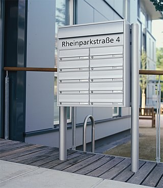 Siedle Vario free-standing letterbox di Siedle