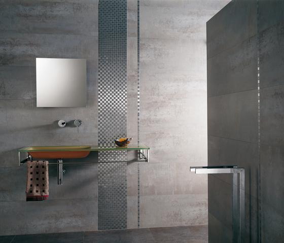 Noohn Metal Mosaics Brick Acero de Porcelanosa