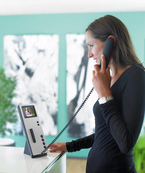 Siedle Comfort Table-top video handsfree telephone by Siedle