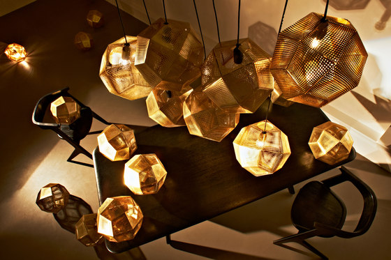Etch Pendant Brass von Tom Dixon