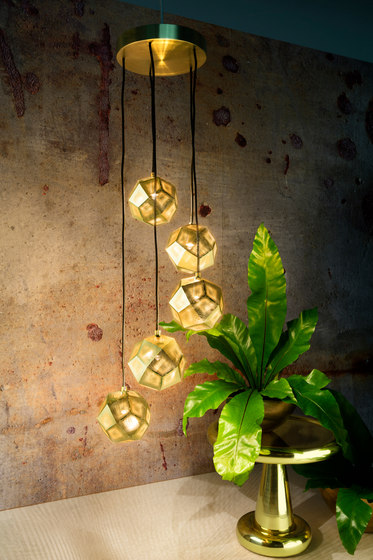Etch Mini Chandelier Brass de Tom Dixon