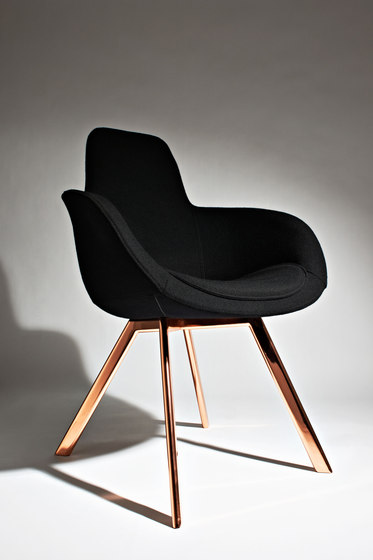 Scoop Chair Low Back Copper Leg Tonus 4 von Tom Dixon