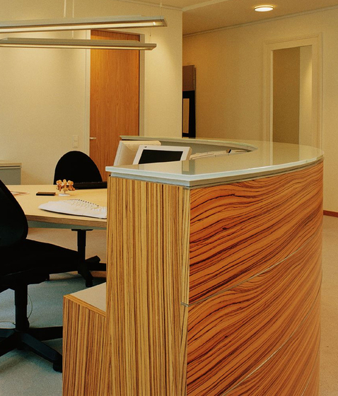 Reception desk by Plan W