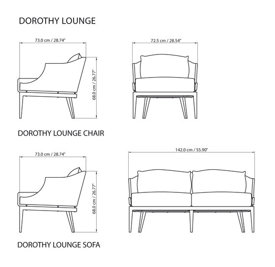 Dorothy Lounge side table di steve & james