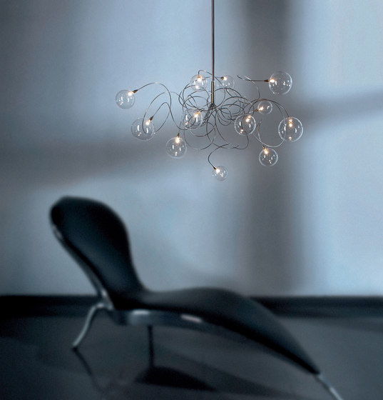 Bubbles – Long ceiling light di HARCO LOOR