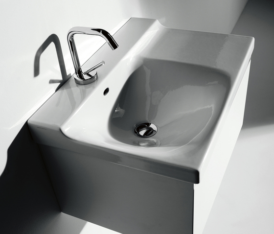 Buddy Washbasin 60 + wall-mounted cabinet 60 by Kerasan