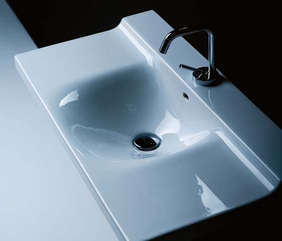 Buddy Washbasin 100 double sink by Kerasan