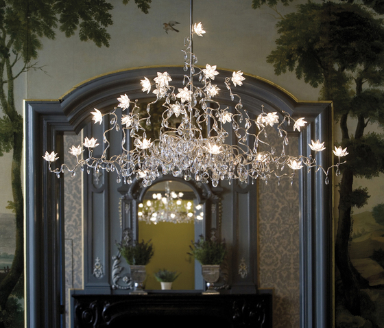 Jewel Chandelier suspension 15-amber de HARCO LOOR