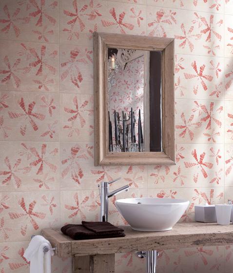 Tracce Skin Fiori Sabbia Tile by Refin