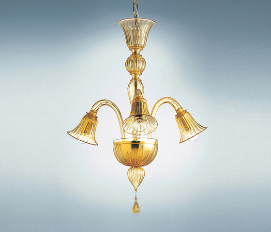 Ca' Balbi - 6 lights chandelier by A.V. Mazzega