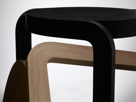 Spin stackable stool by Swedese
