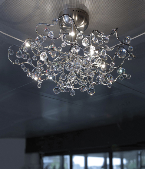 Tiara Diamond oval pendant light 24 by HARCO LOOR