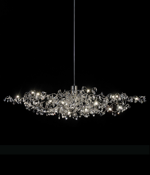 Tiara Oval Pendant light 12-transparent di HARCO LOOR