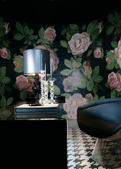 Springrose Nero B mosaic by Bisazza