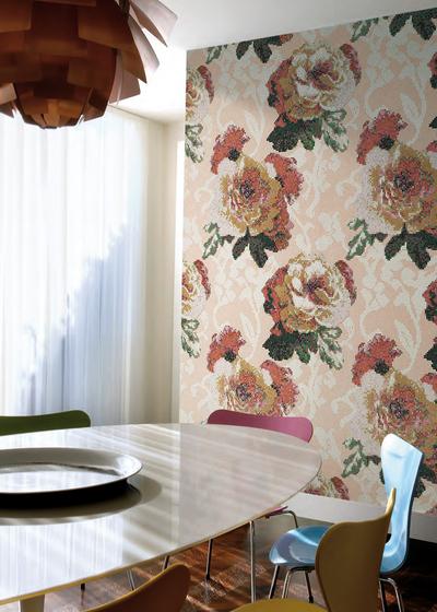 Fleurs Verde mosaic von Bisazza