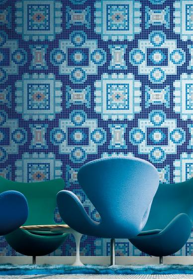 Silk Blue mosaic by Bisazza