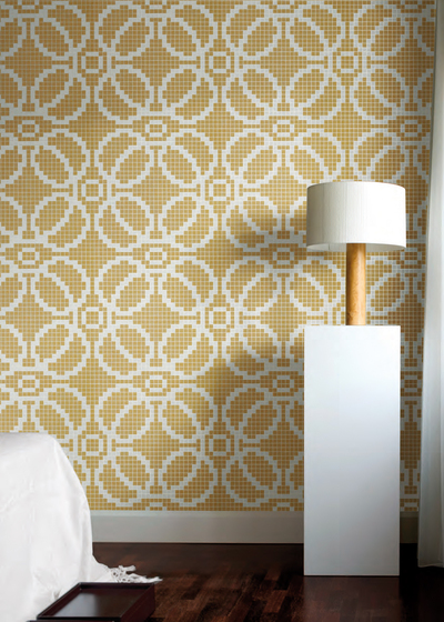 Circles Beige mosaic by Bisazza