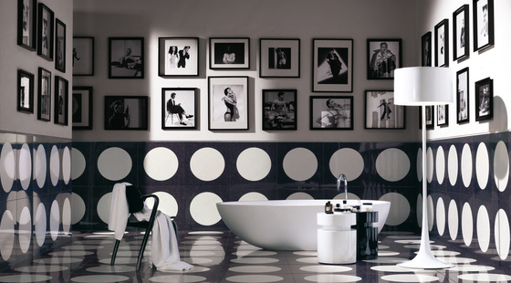 Bubble White glass tile di Bisazza