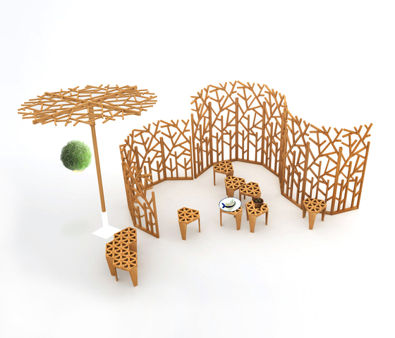Nest Tree Table de Deesawat