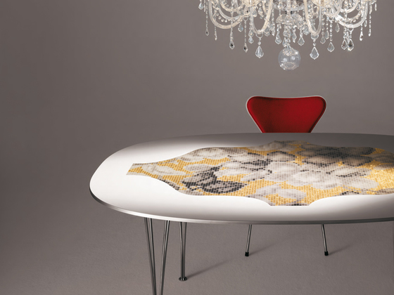 Mosaic Super Ellipse | Hanami black de Bisazza