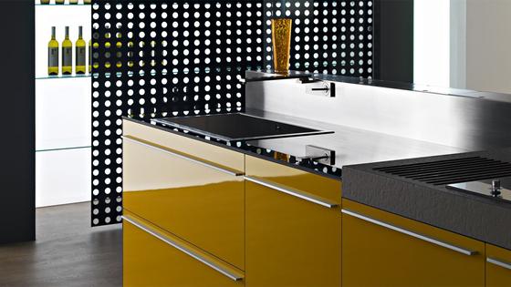 Artematica multiline i giallo senape cucine a parete - Cucine moderne gialle ...