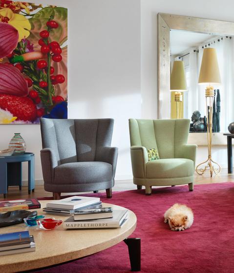 Harlem High-backed armchair de Neue Wiener Werkstätte