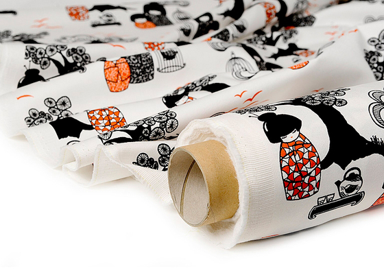 Kokeshi black I white I orange by BANTIE
