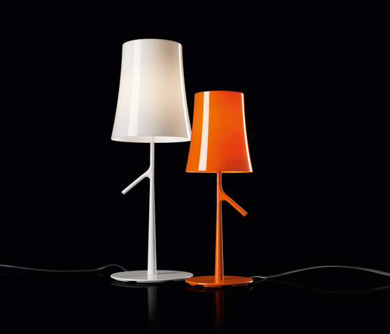 Birdie table small orange de Foscarini