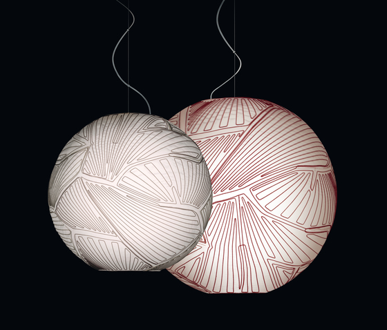 Planet suspension large white/red by Foscarini