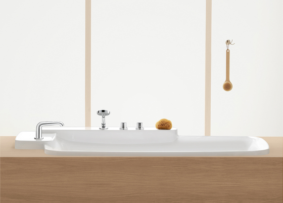 AXOR Bouroullec 3-hole basin mixer 90 without pull rod DN15 by AXOR
