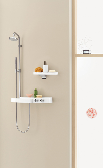 AXOR Bouroullec showerpipe with thermostatic mixer DN15 by AXOR