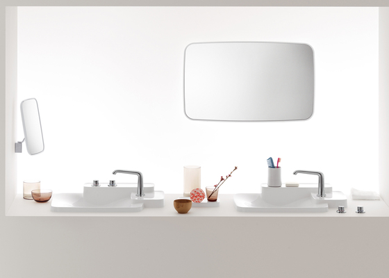 AXOR Bouroullec single lever basin mixer for concealed installation and wall mounting with spout 200 mm DN15 by AXOR
