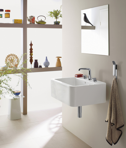 AXOR Bouroullec 2-handle basin mixer with wall spout 245 mm for concealed installation and valves for mounting on basin|console by AXOR