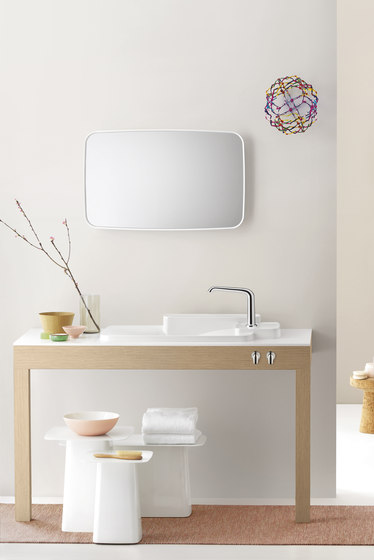 AXOR Bouroullec thermostatic mixer for concealed installation with shut-off valve by AXOR