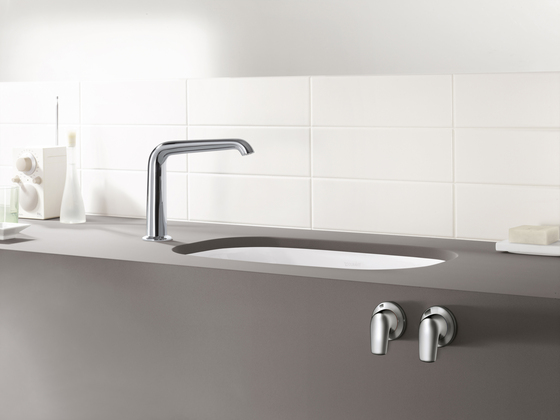 AXOR Bouroullec 2-handle basin mixer with wall spout 200 mm for concealed installation and valves for mounting on basin|console by AXOR