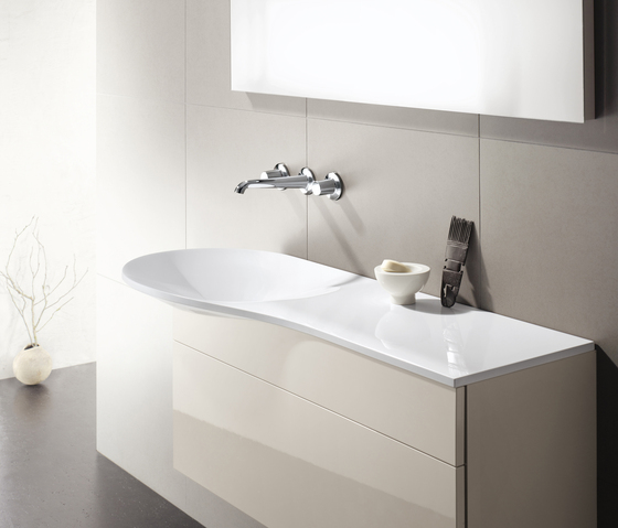 AXOR Bouroullec 2-hole basin mixer 90 DN15 by AXOR